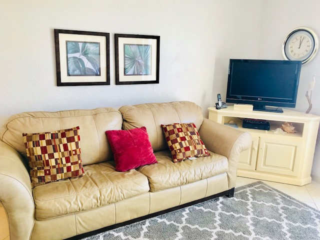 Sofa in the living room.