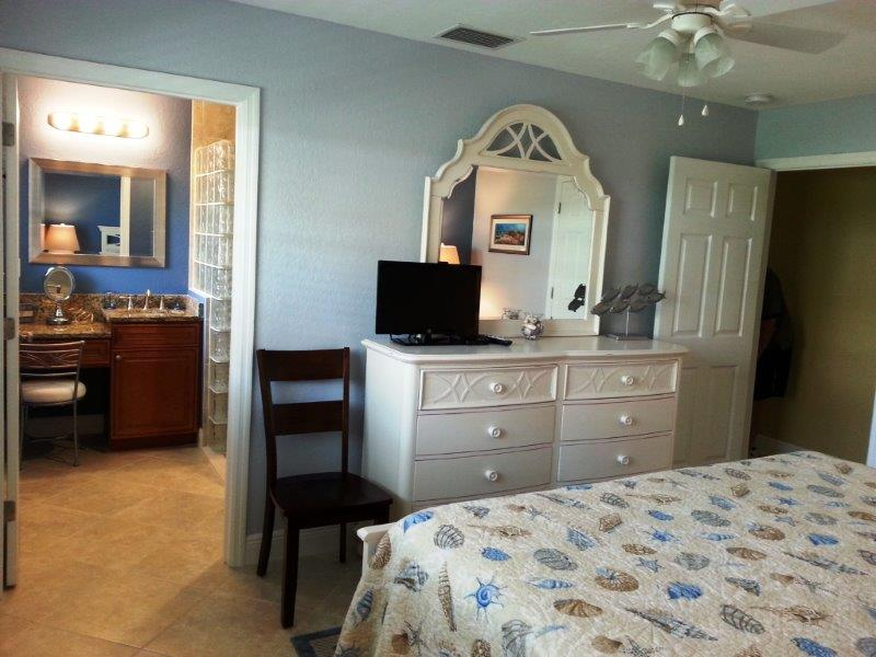 View of the Master bedroom and bath.