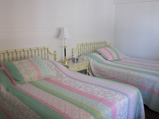 Two full sized beds in the second bedrom.