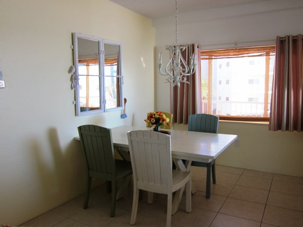 Dining area in the unit.