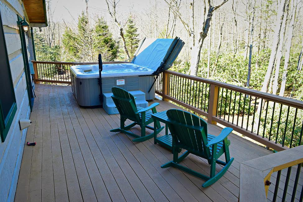 Enjoy a nice soak in the hot tub at Almost Perfect. #hottub