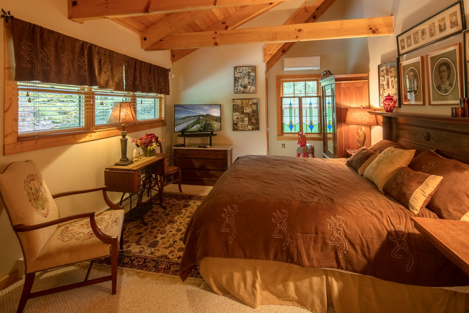Another fabulous bedroom at Almost Perfect in Blowing Rock, NC.
