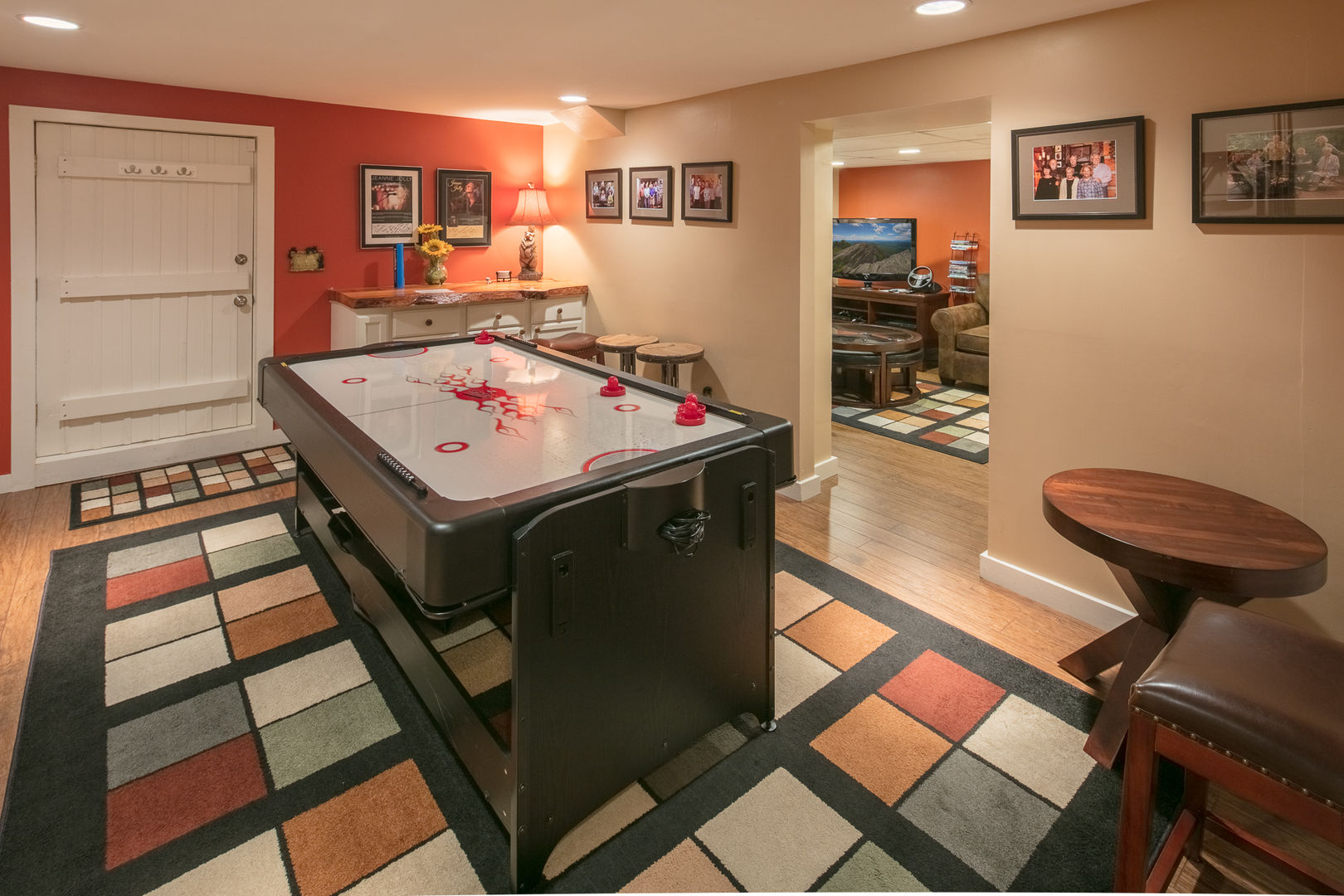 The game room has an air hockey table!  Almost Perfect in Blowing Rock, NC. #gametable