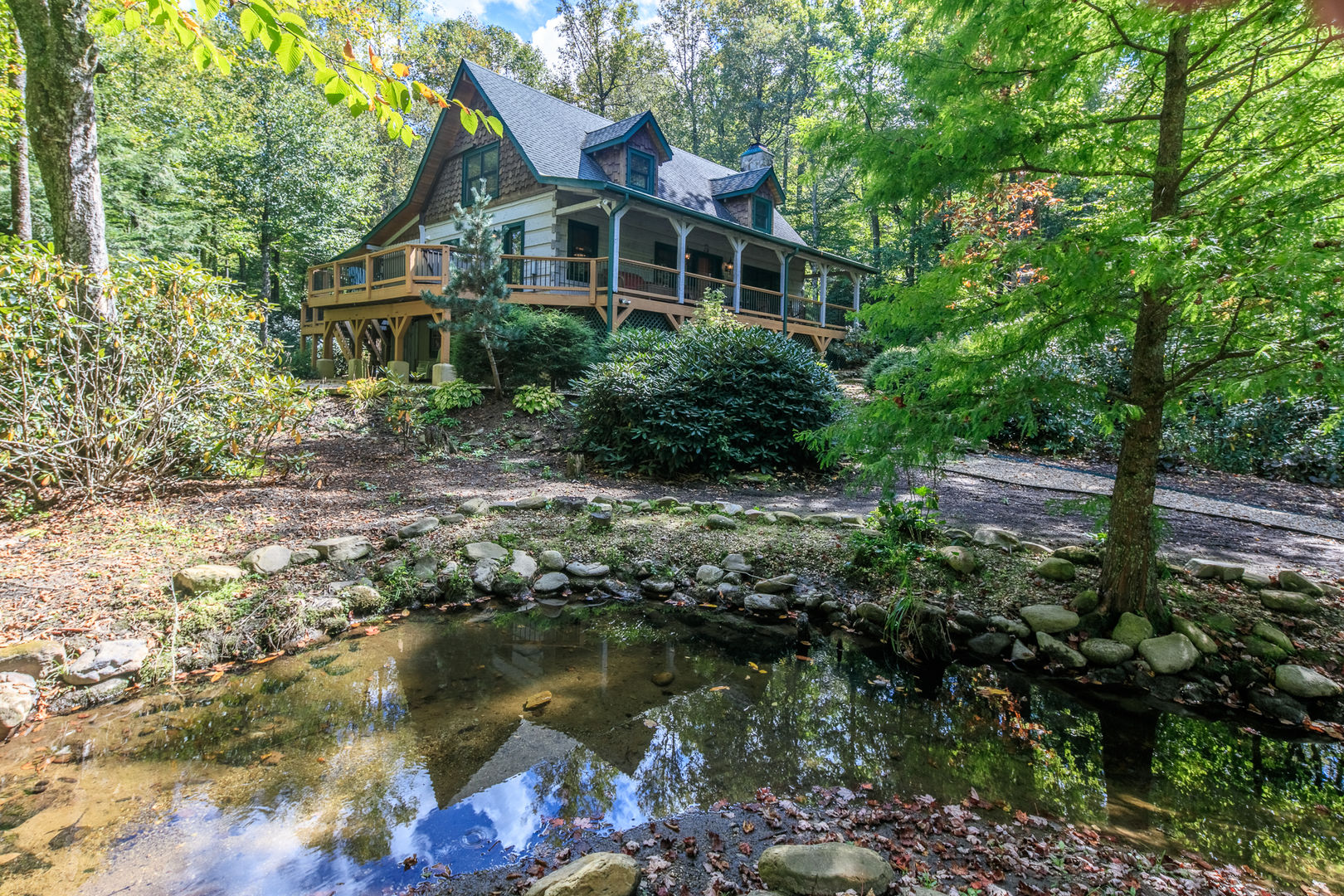 You will love the creek that flows through the property