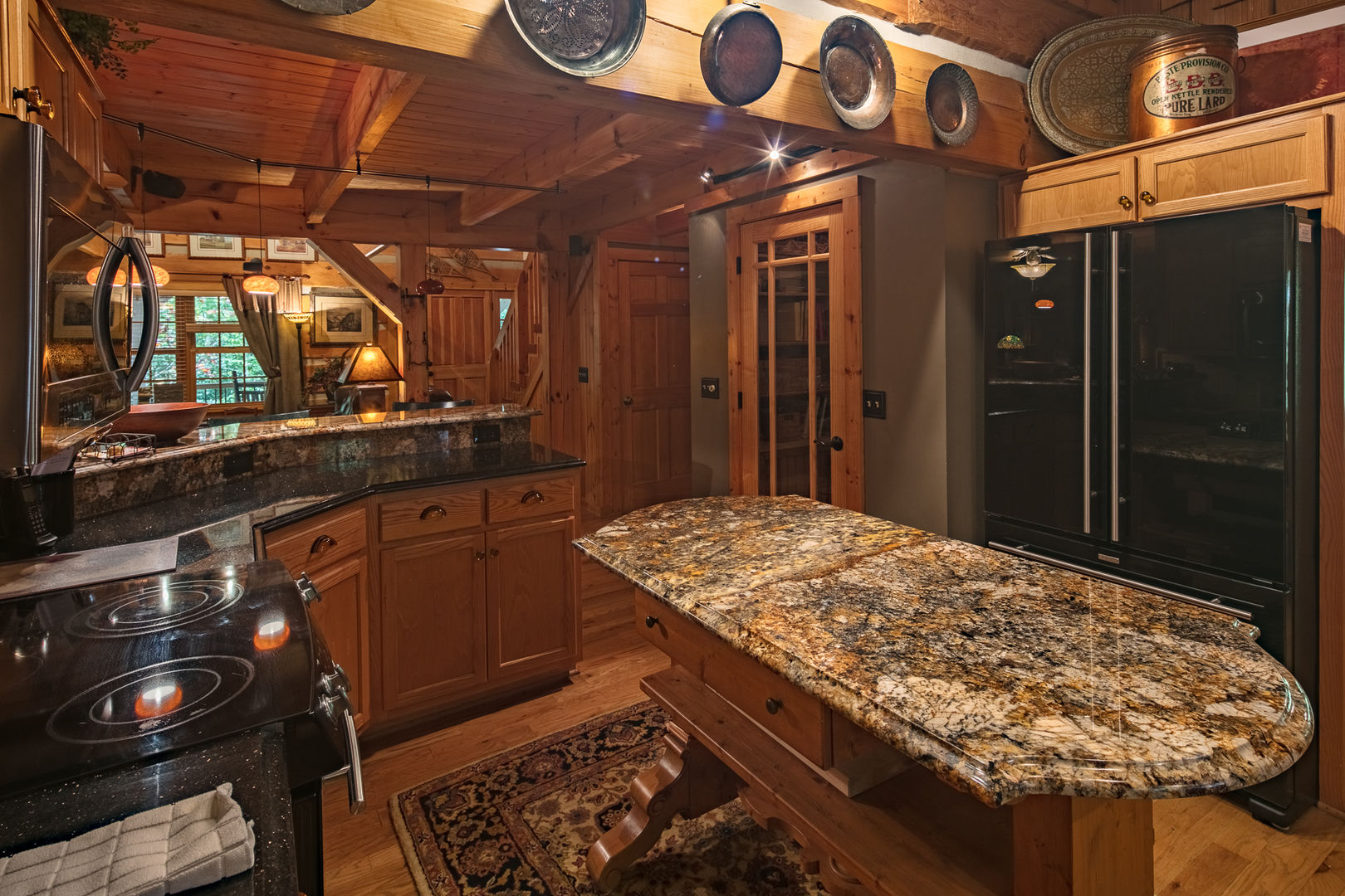 Rich granite counter tops make clean up easy at Almost Perfect in Blowing Rock, NC.