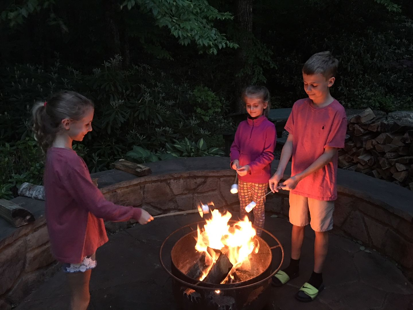 Roast some marshmellows or make a smore after a long day on the river or slopes