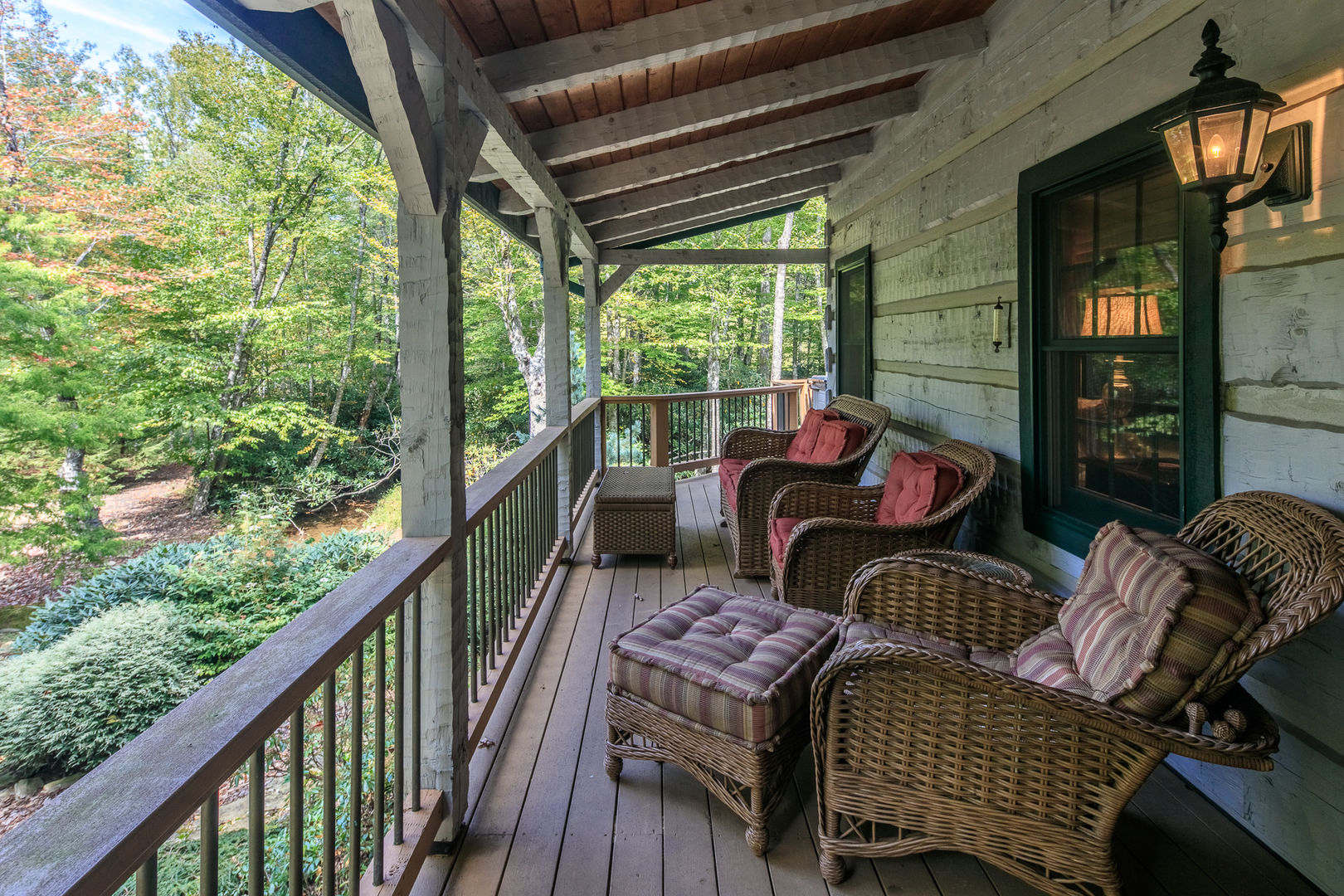 Or sit in the comfy wicker chairs.  Almost Perfect in Blowing Rock, NC.