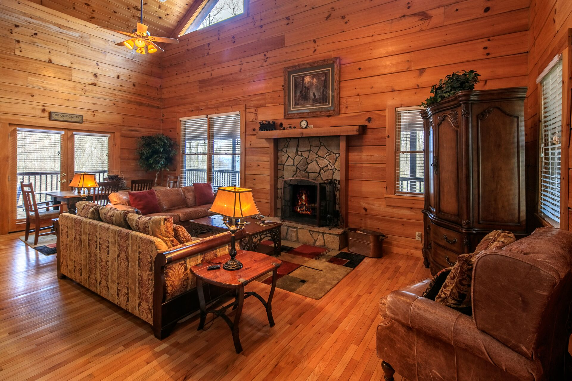 Living room area with fireplace #fireplace