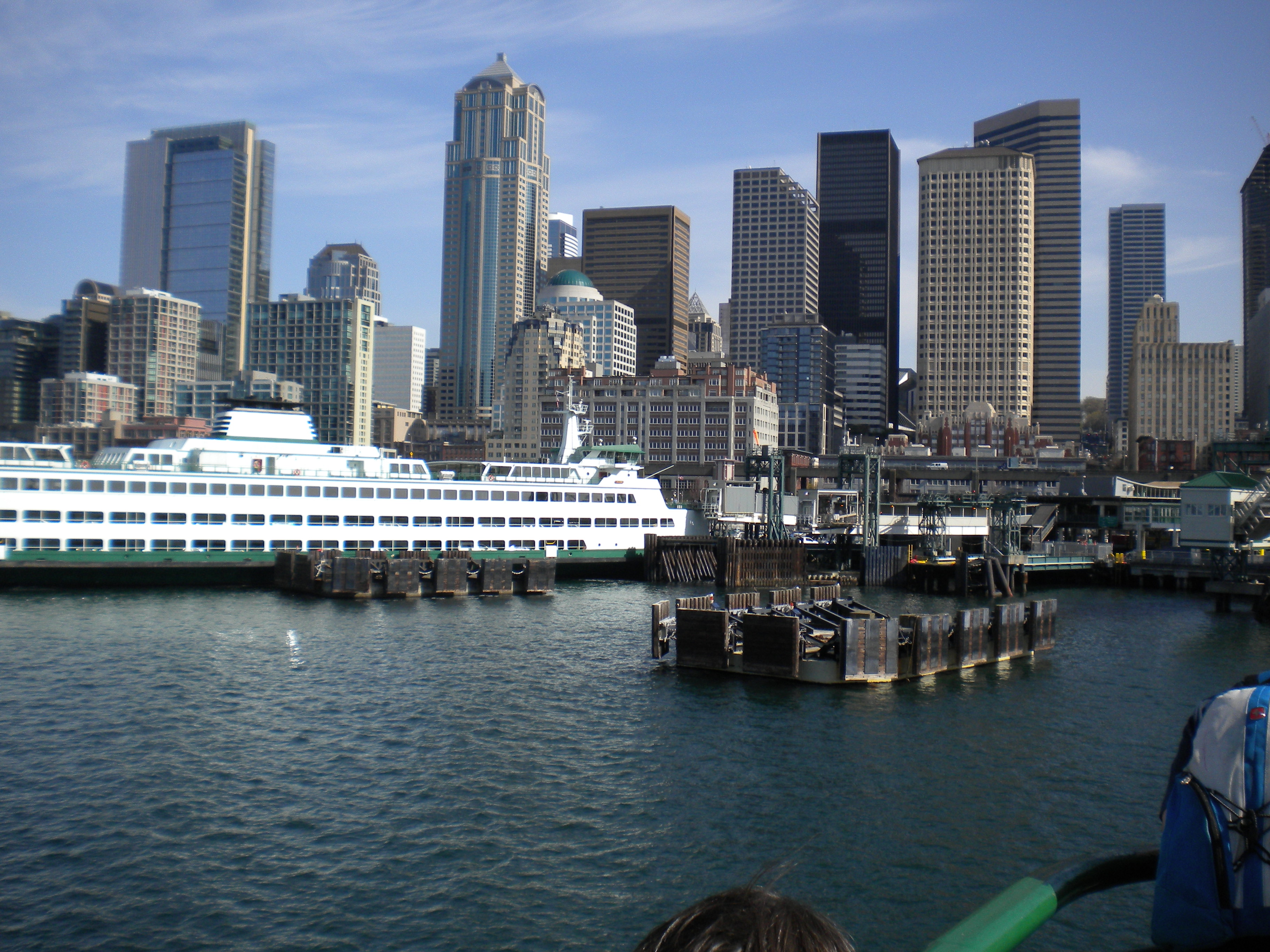 Arriving in Seattle via Washington State Ferries