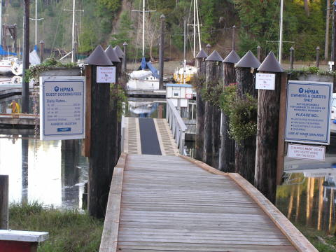 Entrance to the Pointe Marina