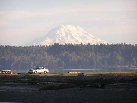View of Mount Rainer from the Pointe
