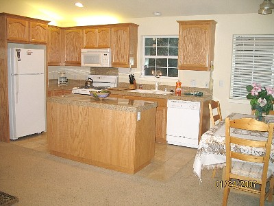 kitchen and dining area area