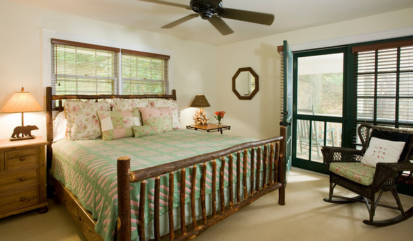 Guest Room Opens onto Private Porch