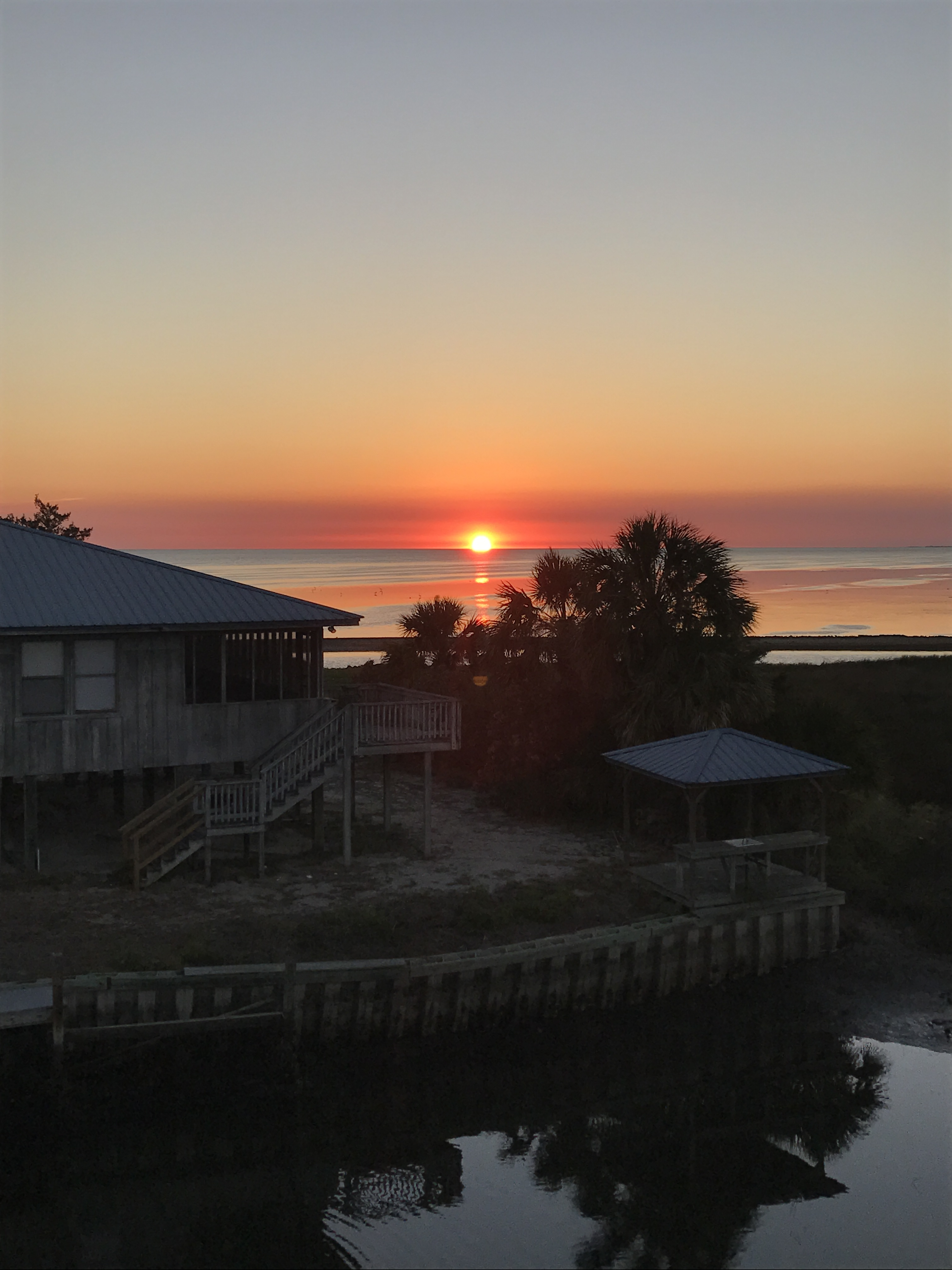 Sunset on the Gulf of Mexico from porch