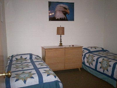 Downstairs bedroom with Twin Bed