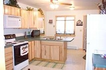 Kitchen area with appliances
