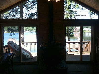 A lake view from the living area