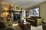 The Gorgeous Living Area is Spectacular with the Wood Burning Fireplace