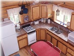 Kitchen in Guest Cabin