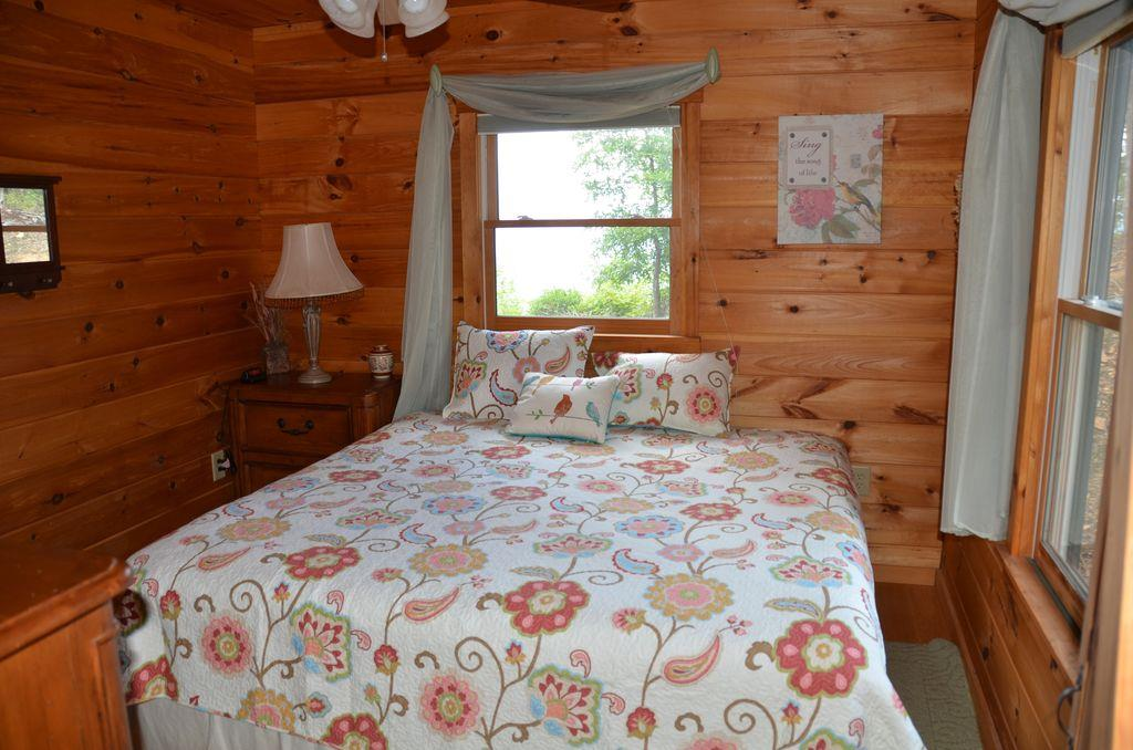 King bed downstairs guest bedroom
