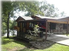 Front view of our lakefront home