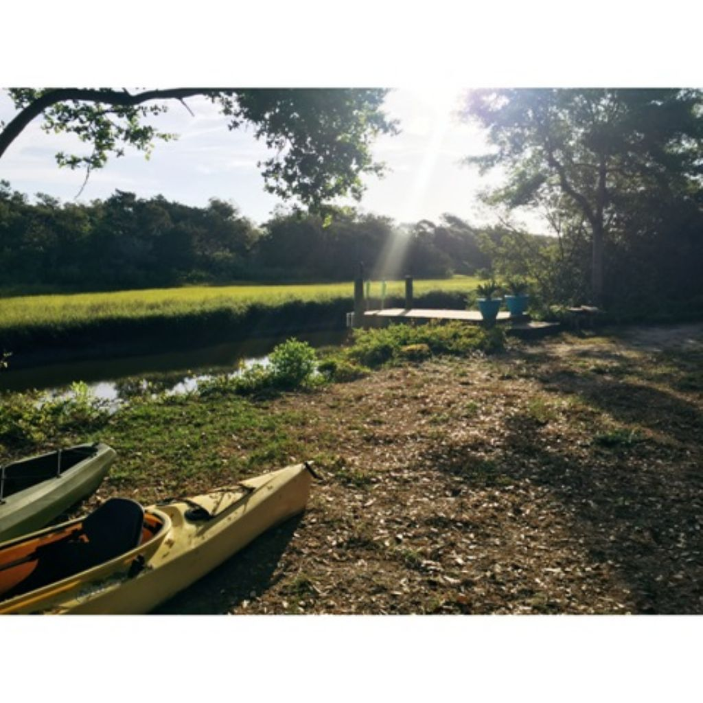 Beach House Morning Rise with Kayaks