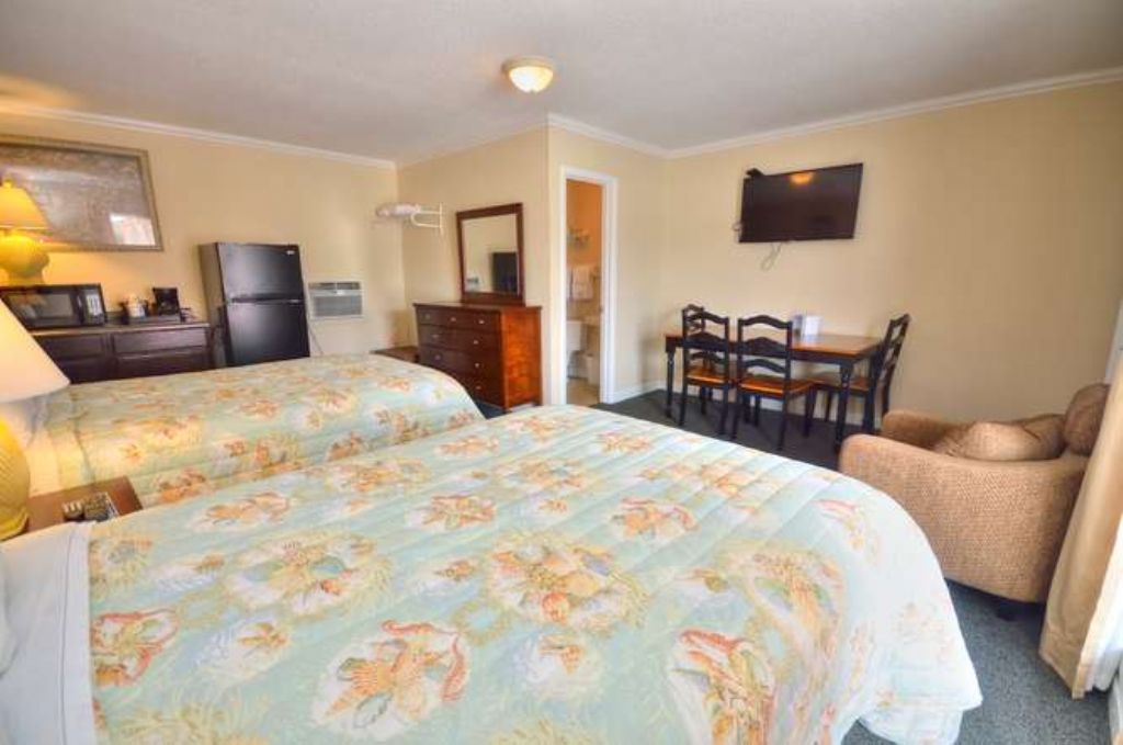 Double Beds Kitchenette and sitting area