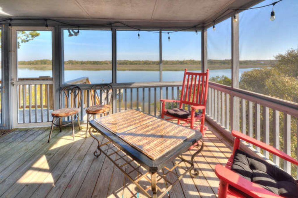 Screen Porch Water View