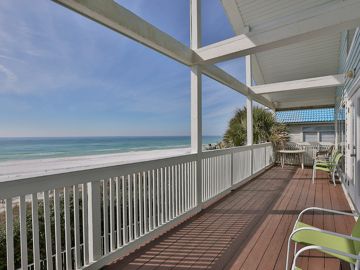 Patio view of Miramar Beach - White Sand wit view of the sunny blue sky