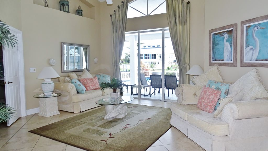 Living room Marco Island Vacation home with 3 bedrooms waterfront