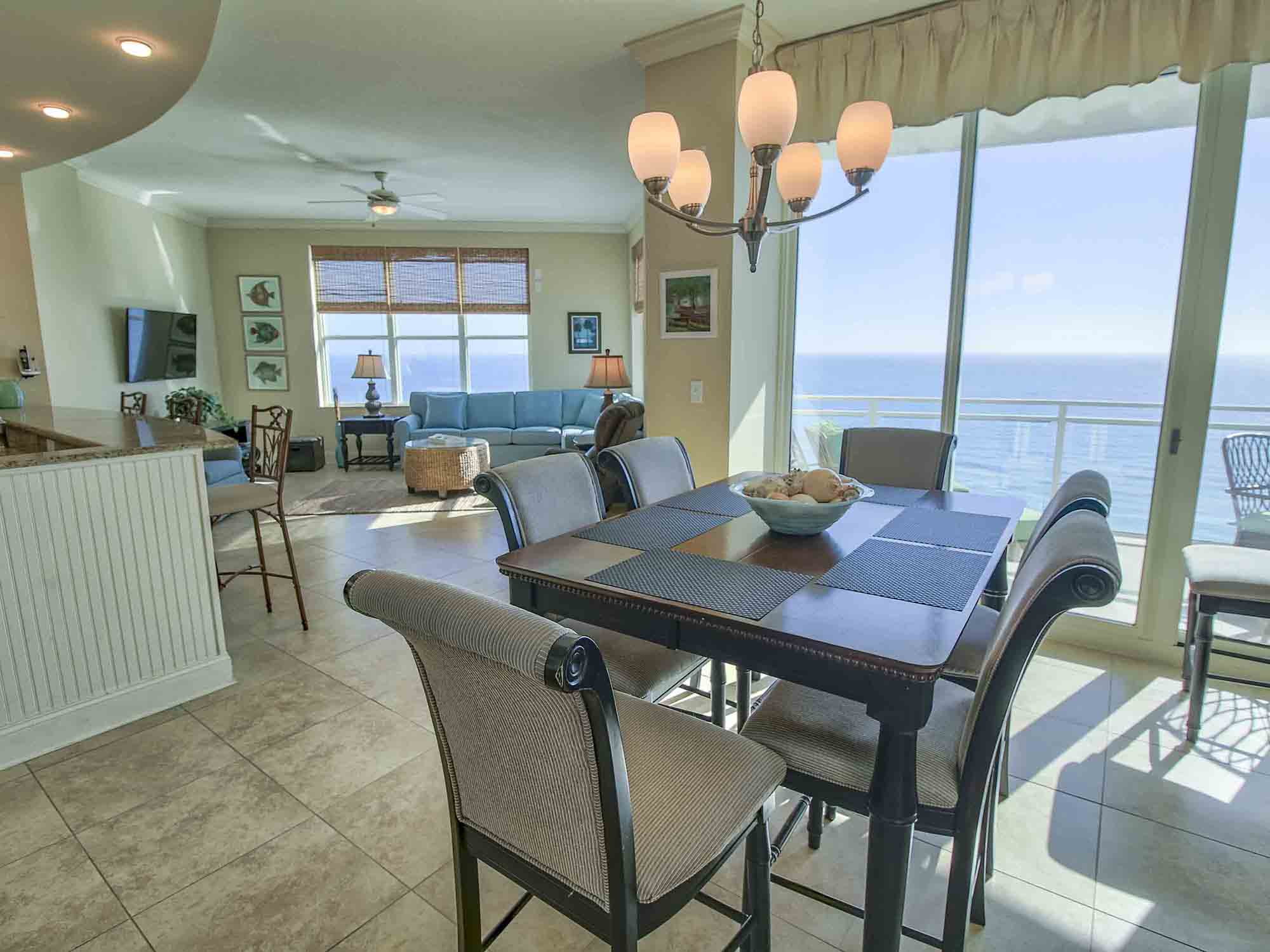 Panama City Beach luxury penthouse 3 bedroom vacation rental with lots of amenities