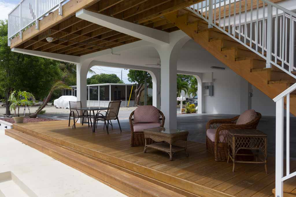 Covered sitting area