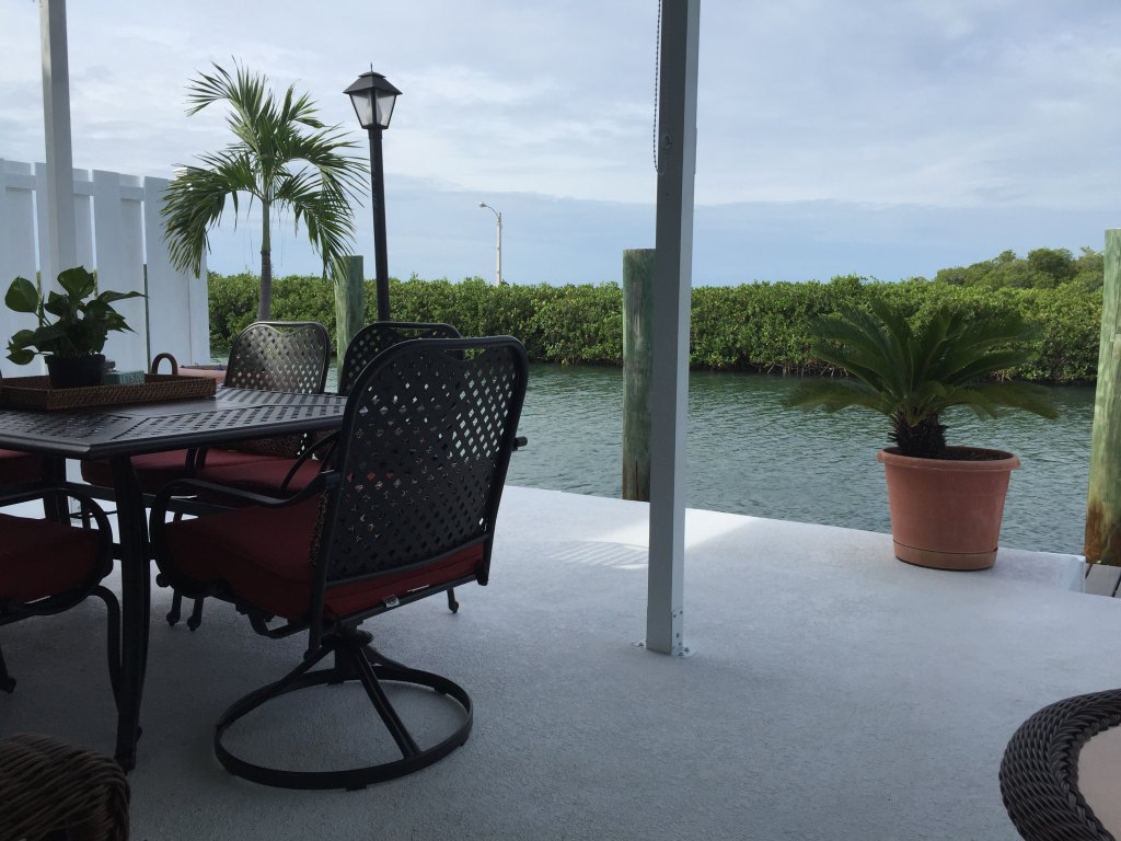 Back patio waterview