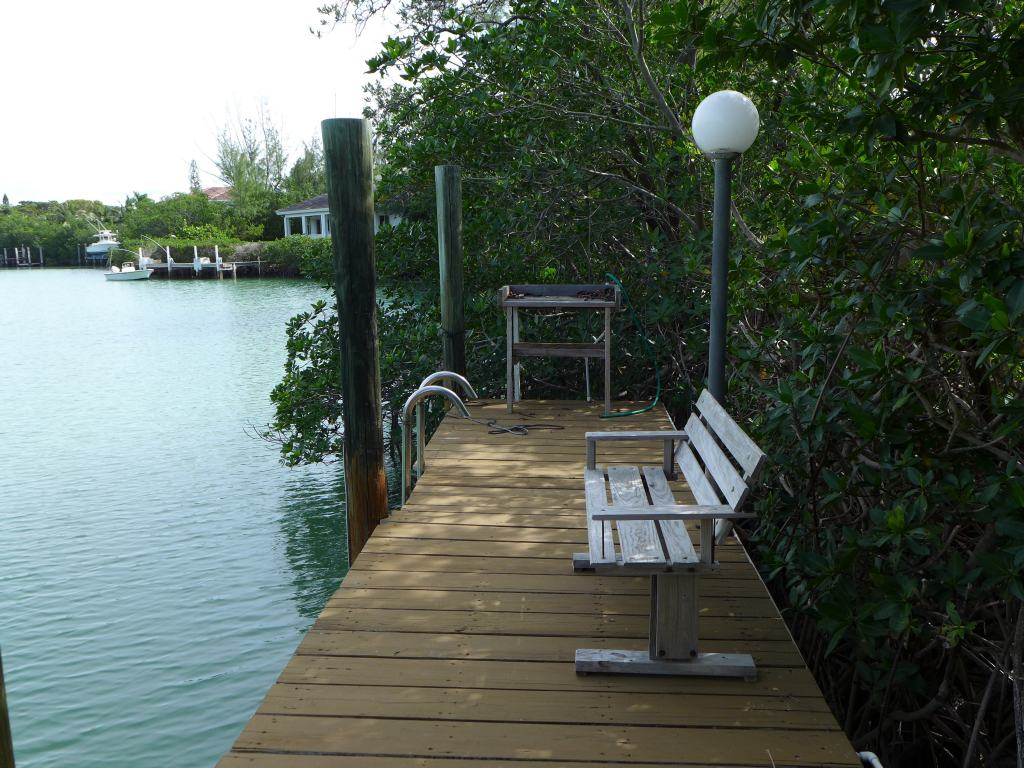 Dock with Swim Ladder, Fish Cleaning Table