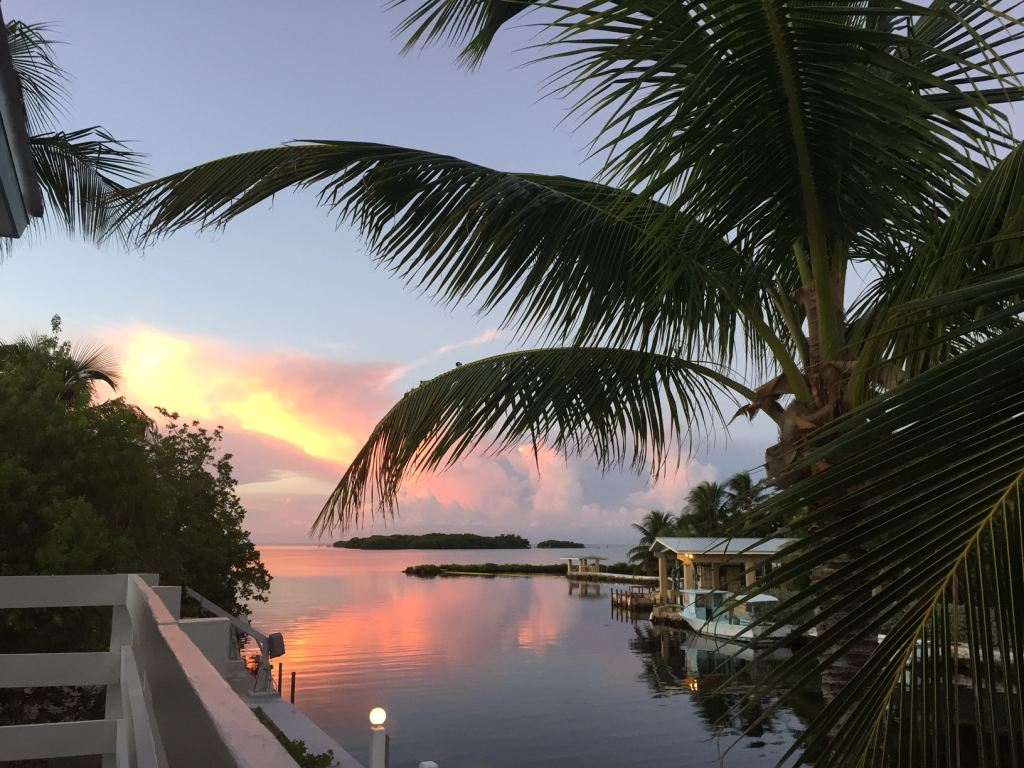 Amazing Sunsets over the open water from property