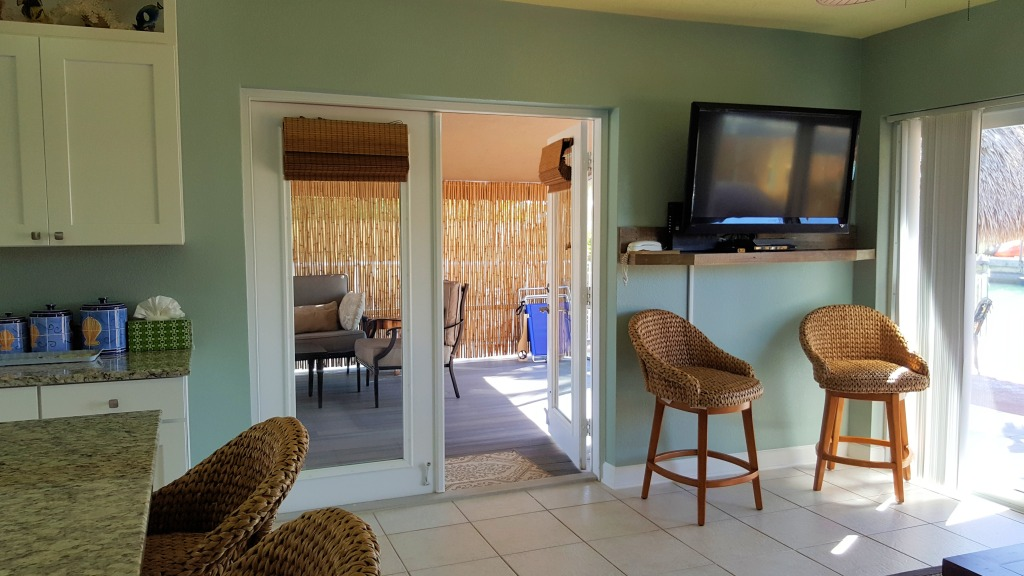 Living area and porch