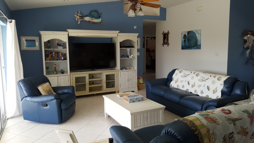 Living Area with large screen TV