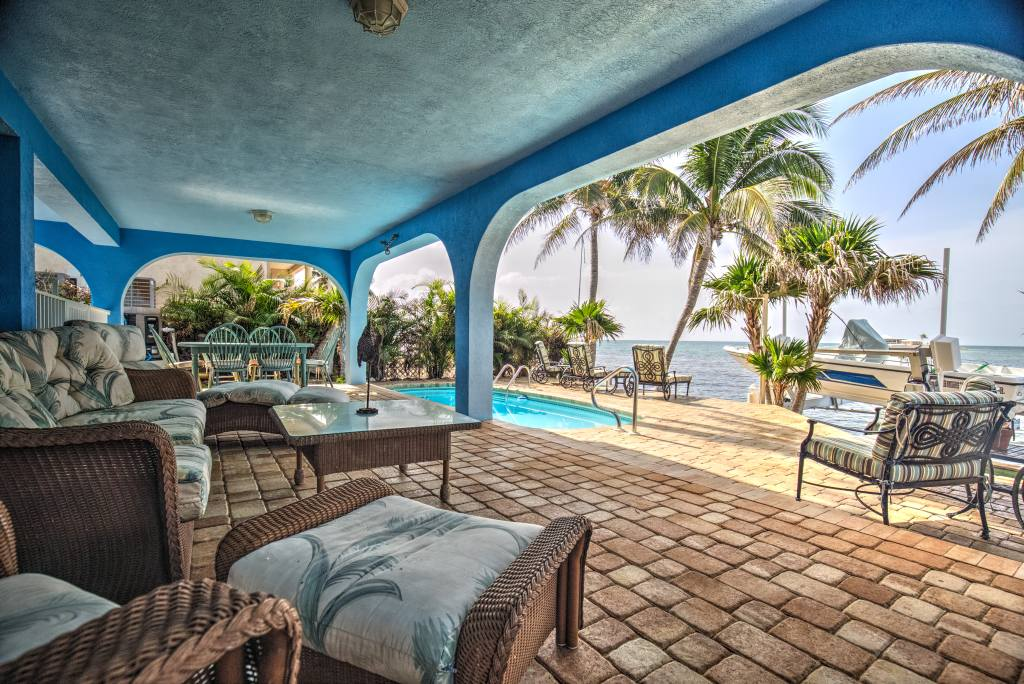 Covered Patio Poolside
