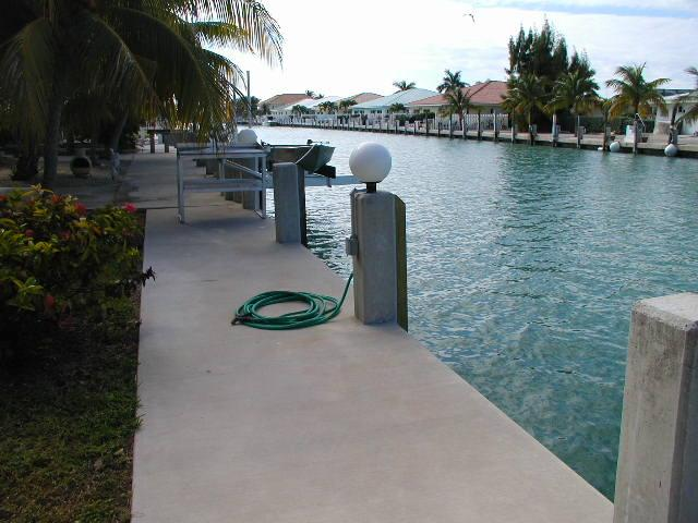 Dock and Fish Cleaning Table