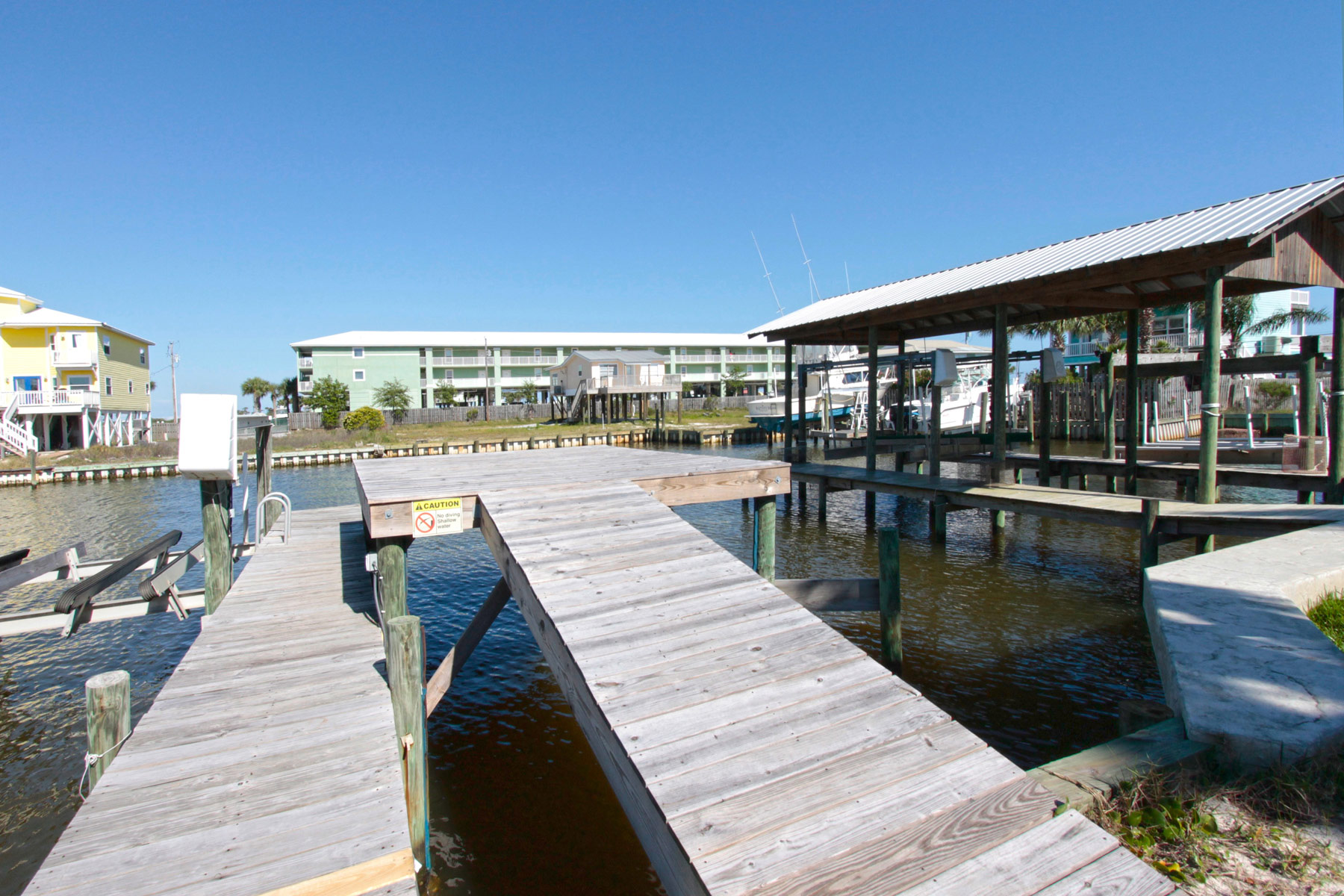 Pier and sun deck
