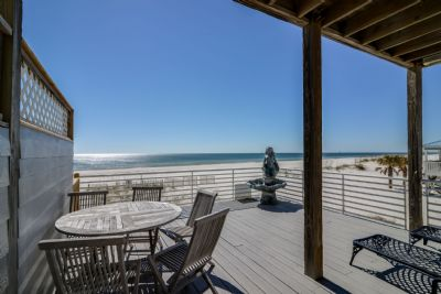 Large Open/Covered Deck overlooking the Gulf of Mexico