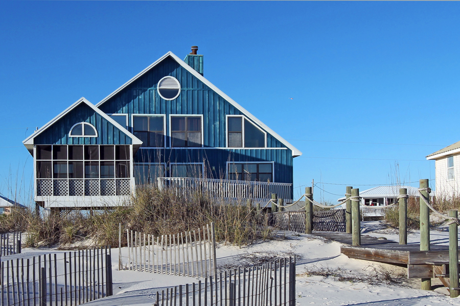 Gulf front view of Dixie Dunes
