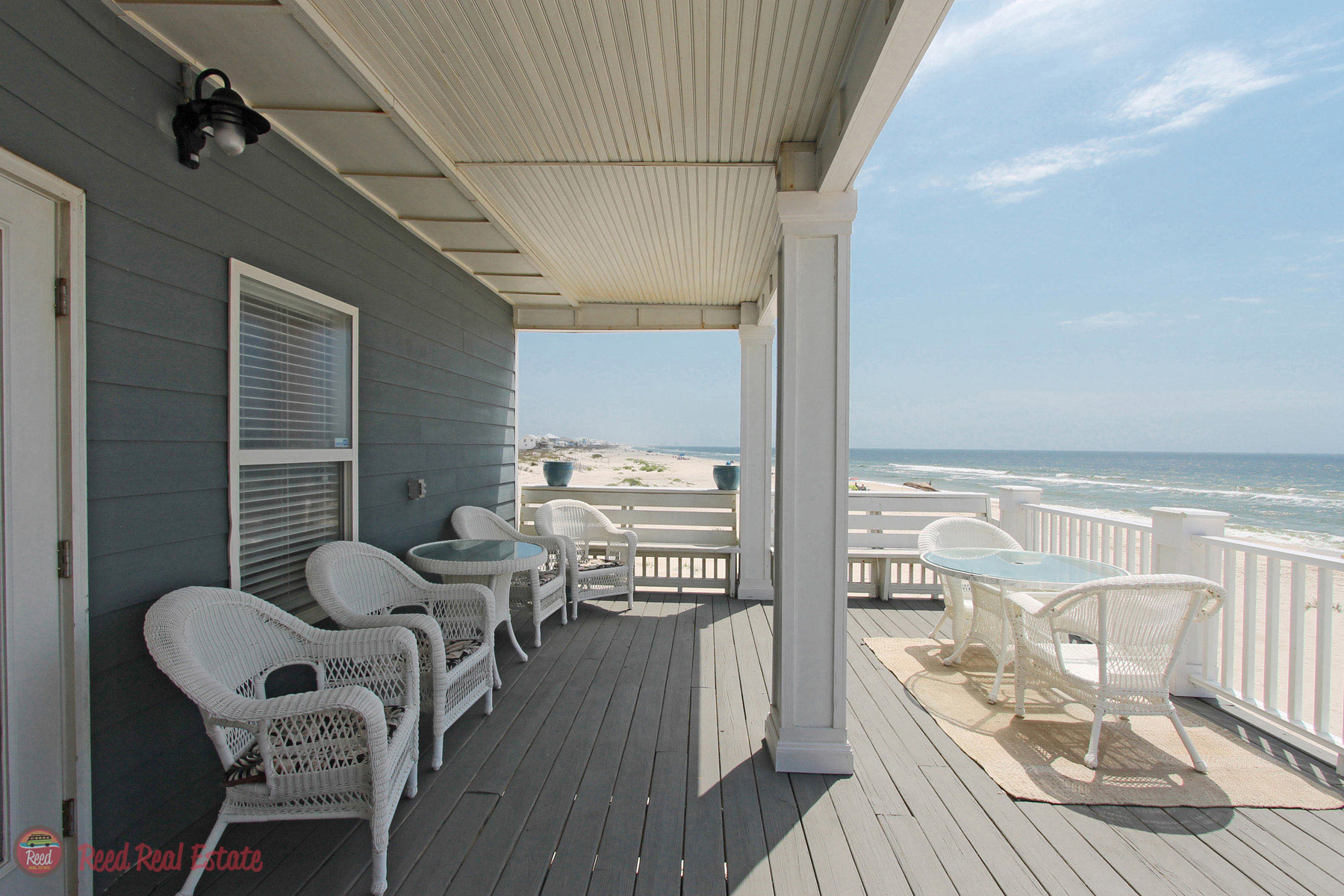 Large partially covered deck