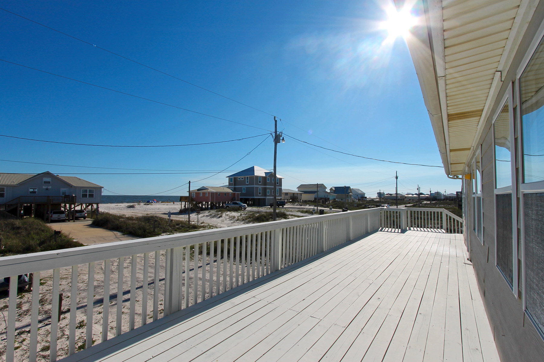 Front deck with great gulf view