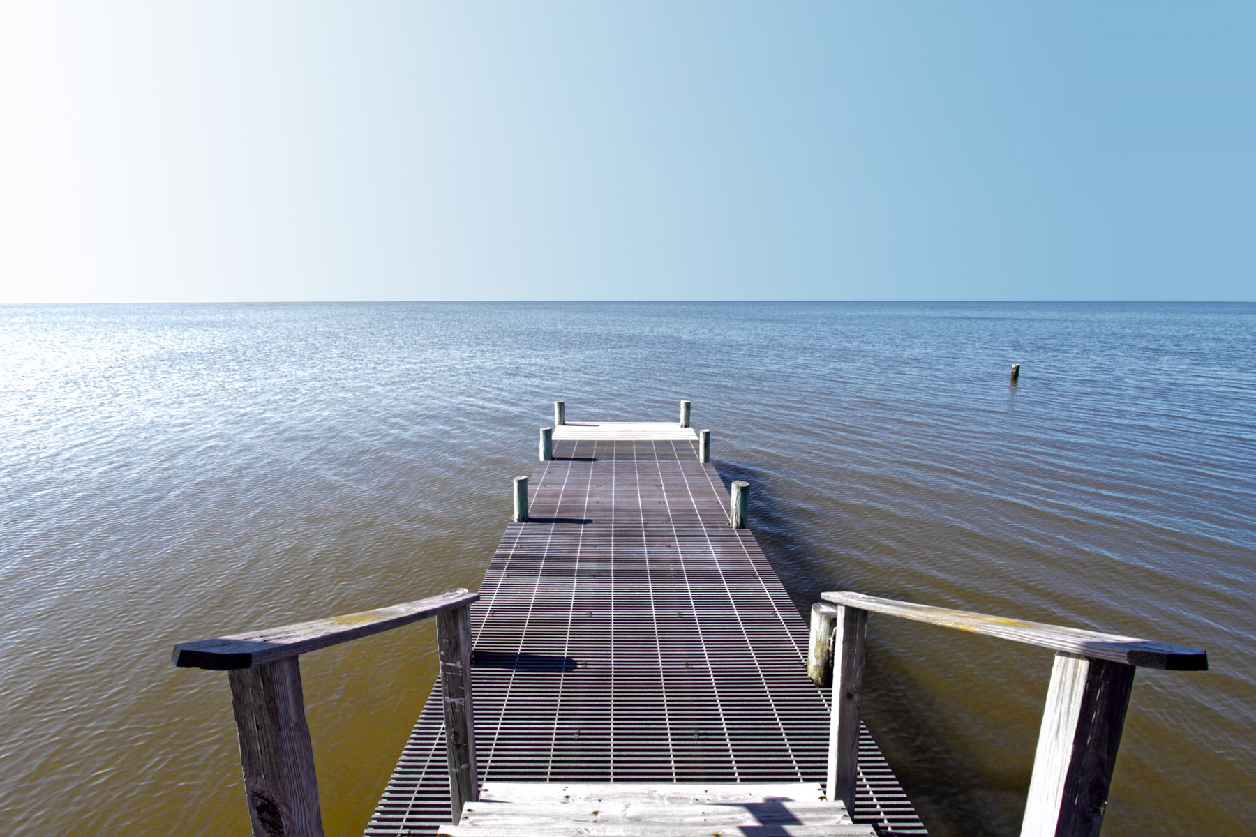 extended pier for easy boat access
