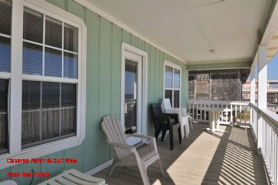 Covered Porch & Gulf View