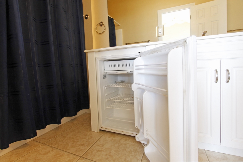 Mini-fridge in master suite