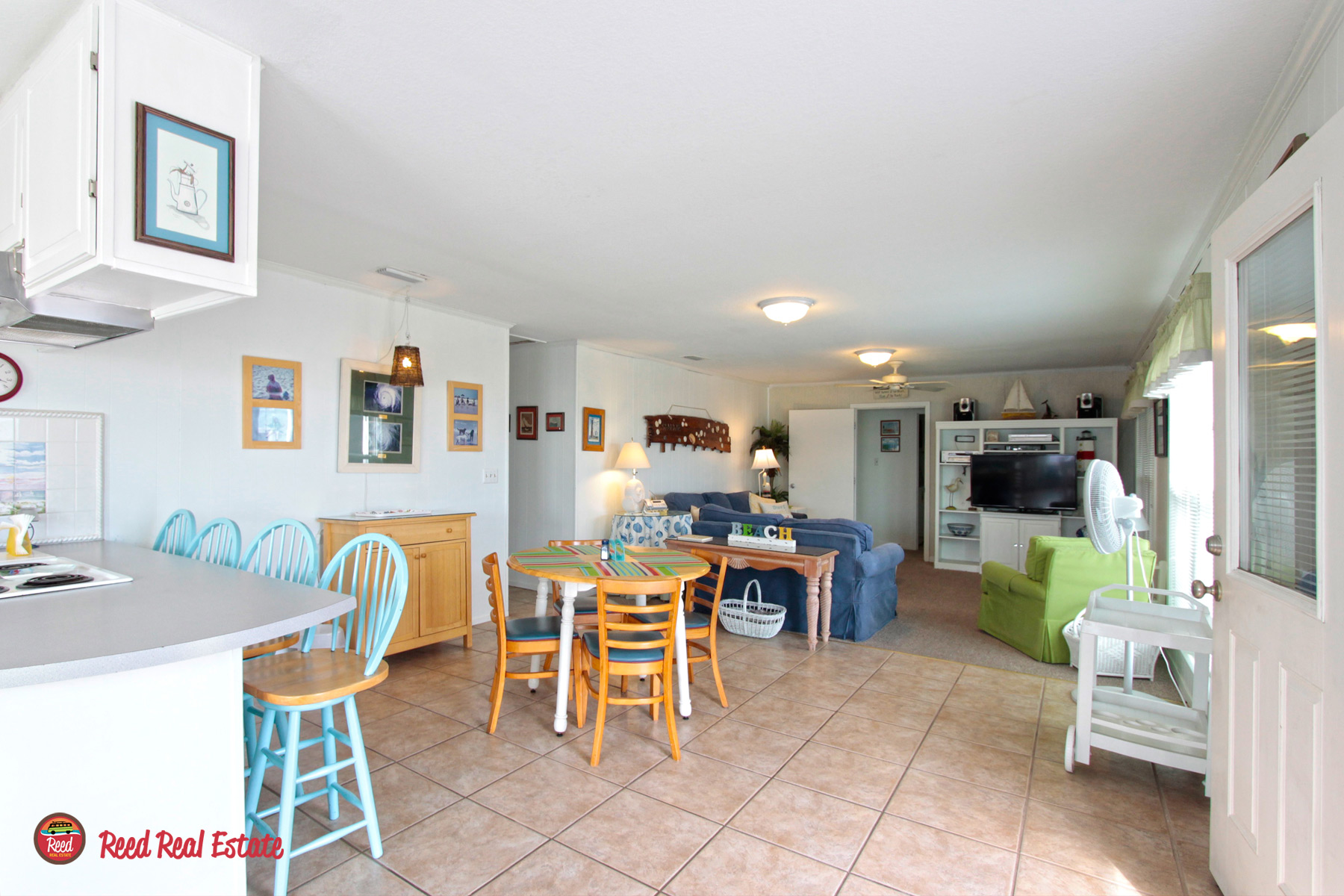 Spacious open floor plan and two dining tables