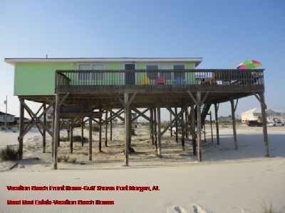 Vacation Beach Front Home-Gulf Shores Fort Morgan, AL