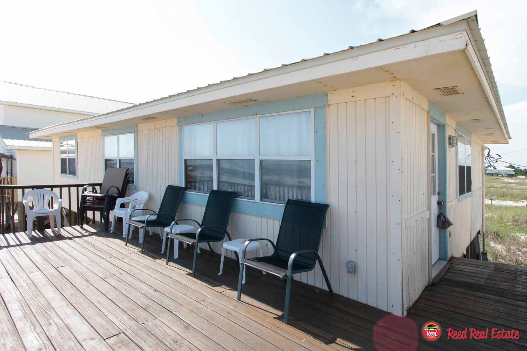 Wrap around deck from living room